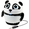 GOgroove - Groove Pal Panda Portable Rechargeable Speaker with Dual Drivers - Works with Motorola Phones - Black, White