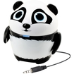 GOgroove - Groove Pal Panda Portable Rechargeable Speaker with Dual Drivers & Subwoofer for Classrooms - Black, White