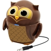 GOgroove - Groove Pal Owl Portable Rechargeable Speaker w/ Dual Drivers & Subwoofer - Works w/ Samsung Phones - Brown