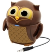 GOgroove - Groove Pal Owl Portable Rechargeable Speaker with Dual Drivers and Subwoofer for Classrooms - Brown