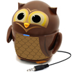 Accessory Power - GOgroove Pal Owl Portable Rechargeable Speaker w/ Dual Drivers & Subwoofer for On-the-Go Sound - Brown