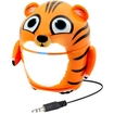 GOgroove - Groove Pal Tiger Portable Rechargeable Speaker w/ Dual Drivers & Passive Subwoofer for Classrooms - Orange