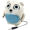 GOgroove - Groove Pal Polar Bear Portable Rechargeable Speaker w/ Dual Drivers - Works with Samsung Devices - Blue
