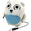 GOgroove - Groove Pal Polar Bear Rechargeable Speaker w/ Dual High-Excursion Drivers for Portable DVD Players - White