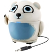 GOgroove - Portable Polar Bear Animal Stereo Speaker w/ Rechargeable Battery for HTC One M8 Smartphone - White