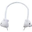 """GOgroove - Children Safe On-Ear Polar Bear Animal Headphones w/ Volume Limiting Sound for Zeki 7"""" Tablet - White - White"""