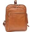 Piel Leather - Front Pocket Computer Backpack Saddle 2362Sdl - Saddle