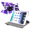 eForCity - Swivel Stand Leather Case f/ iPad Mini / iPad Mini 2 with Retina display / iPad Mini 3 - Purple Giraffe, Apple logo
