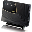 ZyXEL - Simultaneous Dual-Band Wireless AC1750 HD Media Router - Black