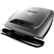 George Foreman - Classic Electric Grill121 Sq. inch. Cooking Surface - Silver - Silver