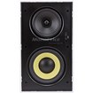 Monoprice - 6-1/2 Inches Dual Woofer- Micro Flange In-Wall Speaker (Pair)