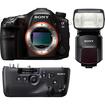 Sony - Alpha SLT-A99 Full Frame Digital SLR Camera + VG-C99 Grip + HVL-F60M Flash