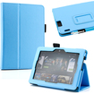 DrHotDeal - PU Leather Folio Flip Magnetic Case Cover Stand for 2013 Kindle Fire HDX 7inch - Light Blue