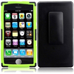 Insten - Water Repellent Cover Case With Holster Belt Clip For iPhone® 5C / 5S - Black, Green