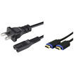 eForCity - 3FT HDMI Cable with Ethernet M/M and US 2 Prong Power Charger Cable For Sony PlayStation PS4