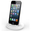 RND Power Solutions - Desktop Charging Dock for Apple iPhone Smartphones. Compatible without or with rugged dual layer cases. - White