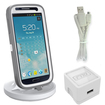 RND Power Solutions - Desktop Charging Dock for Samsung Smartphones. Compatible without or with rugged dual layer cases. - White