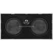 Monoprice - 5-1/4 Inches Center Channel Micro-Flanged In-Wall Speaker - 8 Ohm