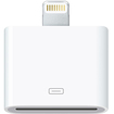4XEM - 8-Pin Lightning To 30-Pin Adapter for iPhone/iPod/iPad - White
