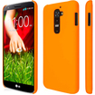 Empire - KLIX Slim-Fit Hard Case for LG G2 D800 D801 D802 D803 LS980 (NOT for Verizon/International Model) - Orange - Orange