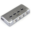 Startech - 4-to-1 USB 2.0 Peripheral Sharing Switch - Silver