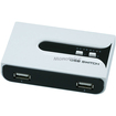 Monoprice - USB 2.0 Cross over Sharing Switch 2 to 2 with (2) A to B cable and power adapter