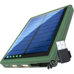 ReVIVE - Compact Portable 5000mAh Solar Charger & Backup Battery Pack with Dual USB Ports for Emergencies