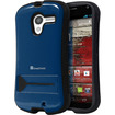 GreatShield - GUARDIAN Hybrid PC + TPU Protective Case Cover with Kickstand for Motorola Moto X - Black, Navy - Black, Navy