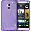 Fosmon - GUARDIAN Slim-Fit S-Line TPU Protective Case Cover for HTC One Max / HTC T6 - Purple S Shape - Purple S Shape