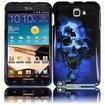 Insten - Skull Case for Samsung Galaxy Note N7000/i717/i9220 - Blue Skull