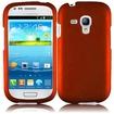 BasAcc - Snap-On Hard Rubberized Case Cover for Samsung Galaxy® S3 III mini i8190 - Orange - Orange