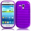 BasAcc - TPU Rubber Gel Skin Case Cover for Samsung Galaxy® S3 SIII Mini i8190 - Purple - Purple