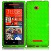 Insten - TPU Case for HTC Windows Phone 8X/6990/Zenith - Green