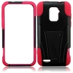 Insten - T Stand Impact Hybrid Hard Case Cover With Holster Clip For ZTE Warp LTE N9510