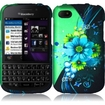 Insten - Hard Rubberized Design Case Cover for Blackberry Q10