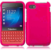 Insten - Hard Snap-On Rubberized Case Cover for Blackberry Q5 - Pink