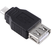 eForCity - USB 2.0 A to Micro B Female / Male Adapter for LG G Pad 8.3 / Sony Xperia Tablet Z - Black