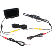 AGPtek - 4.3 LCD Monitor with Rear View LED Back Up License Plate Camera For Vehicle Cars