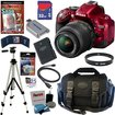 Nikon - Bundle D5200 24.1 MP CMOS Digital SLR Camera (Red