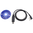 AGPtek - USB Programming Cable for BAOFENG UV-5R Radio w/ FREE Program Software - Black - Black