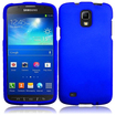 Insten - Rubberized Hard Snap in Case Cover For Samsung Galaxy S4 Active I9295 - Blue