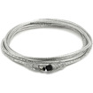 Monoprice - 9 PIN/ 6PIN BILINGUAL FireWire 800 - FireWire 400 Cable, 10FT, CLEAR - Clear - Clear