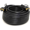 Monoprice - 100ft Super VGA HD15 M/M Cable w/ Stereo Audio and Triple Shielding