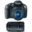 Canon - EOS Rebel T3 12.2MP DSLR Camera & 18-55MM IS II Lens + EF-S 55-250mm f/4-5.6 IS STM
