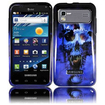 BasAcc - Skull Case For Samsung Captivate Glide i927 - Blue Skull - Blue Skull