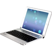 Minisuit - Bluetooth QWERTY Keyboard Stand Case for iPad® Air 5th Generation 2013 - Silver Chrome
