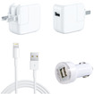 DrHotDeal - 3 in 1 2A USB Wall Home + Car Charger + 8 pin Lightning USB Cable for iPhone 5 5S 5C iPad Mini
