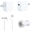 DrHotDeal - 3 in 1 2A USB Wall Home + Car Charger + 30 pin Lightning USB Cable for iPhone 4 4S iPod Touch iPad