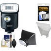 Canon - Speedlite 320EX Flash with LED Light with Soft Box + Reflector + Accessory Kit
