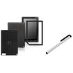 eForCity - Carbon Fiber Front/Back Stickers and Stylus Bundle For Barnes & Noble Nook HD Plus
